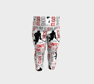 For the Love of Hockey - Red Baby Leggings preview