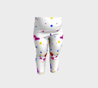 Multicolor Splatter Abstract Print Baby Leggings preview