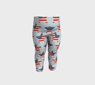 USA Flag Stars Patriotic Baby Leggings preview
