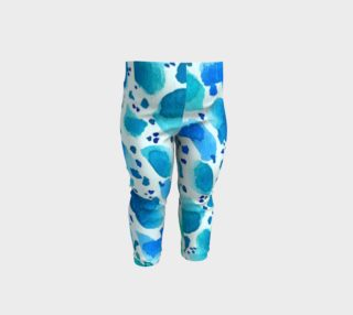 Blue Watercolor Dalmatian Spots preview