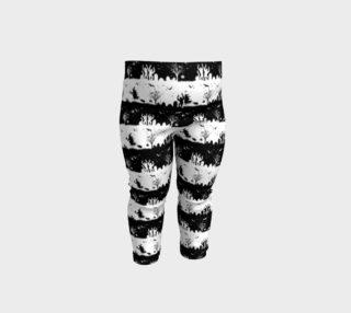 Aperçu de Black and White Halloween Nightmare Stripes