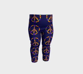 Rainbow Peace Sign Baby Leggings preview