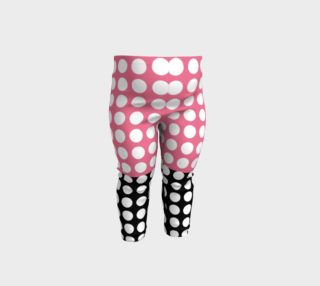 Pink and Black with white dots preview