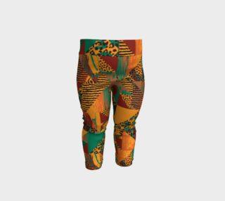 Abstract Safari Print Baby Leggings preview