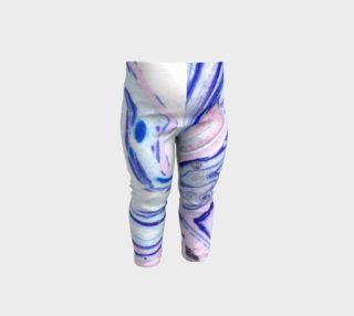 Pink Blue Swirl Marble - Baby Leggings preview