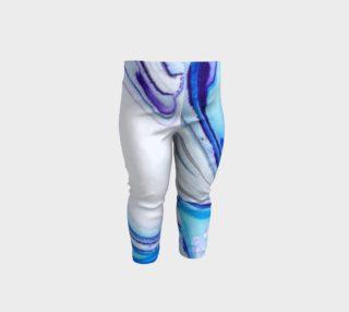 Blue Aqua Teal Purple Marble - Baby Leggings preview