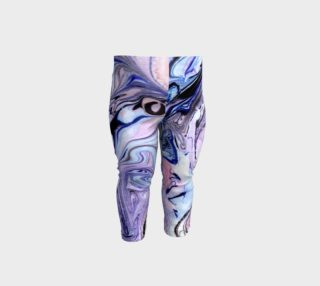 Aperçu de Purple Marble Paint Pink Pattern - Baby Leggings