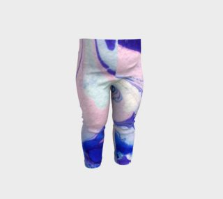Aperçu de Pink Purple Marble Swirl Abstract - Baby Leggings