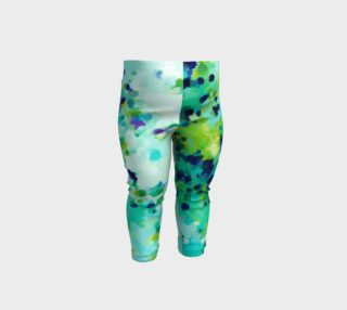 Aperçu de Aquamarine Teal Blue Abstract Pattern - Baby Legging