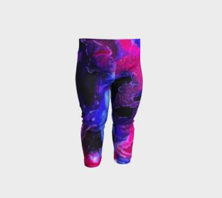 Aperçu de Pink Indigo Abstract Swirl Pattern - Baby Legging