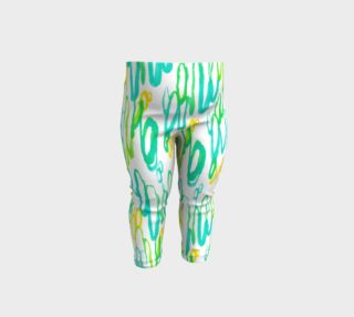 Aperçu de Aqua Green Teal Abstract Pattern - Baby Leggings
