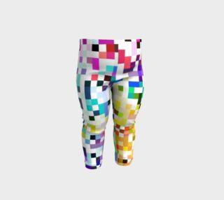 Rainbow Bit Pixel Pattern - Baby Leggings preview