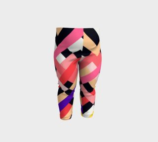 Aperçu de Pink Black Abstract Stripes Pattern - Baby Leggings