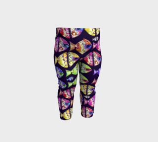 Colorful Fishes Baby Leggings Print preview