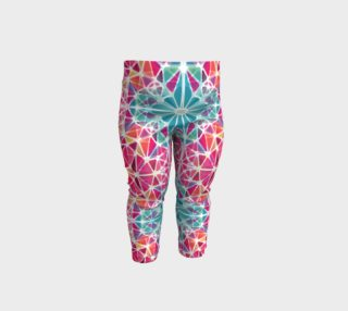 Pink and Blue Kaleidoscope Baby Leggings preview
