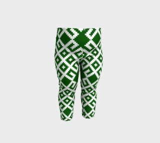 Green Nordic Latvian Traditional Pattern Jumis preview