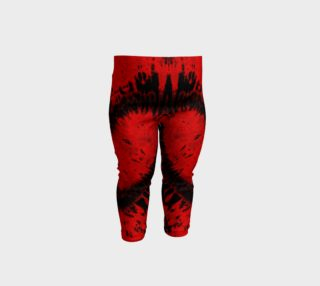 Red Black Heart Baby Leggings preview