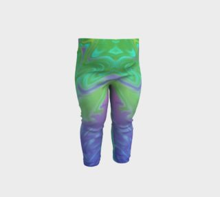 Aperçu de Blue Green Splatter Abstract Design