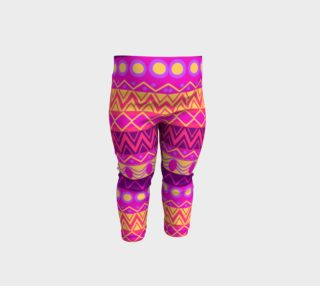 Funky Pink Tribal Pattern Baby Leggings preview