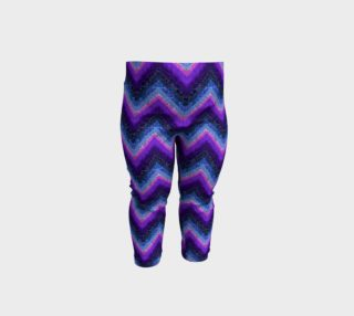 Marble Texture Purple Chevrons Baby Leggings preview