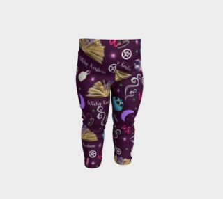 WK #ModernWitchLife Purple Print Baby Leggings preview