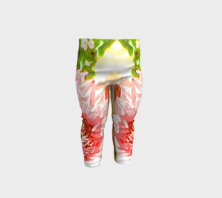 flower power baby leggings preview