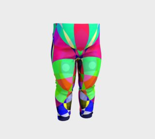 Psychedelic Circle Abstract Baby Leggings  preview