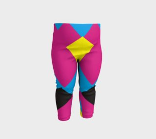 Cute Pink Yellow Geometric Baby Leggings  preview