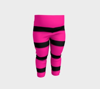 Pink Black Striped Baby Leggings  preview