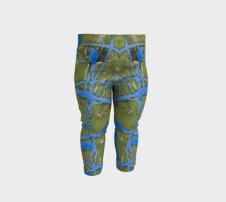 Sage and Cobalt Babby/Toddler Leggings preview
