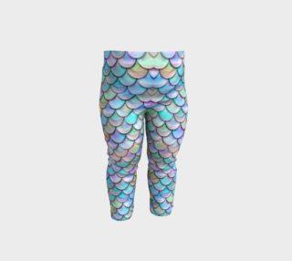 Pastel Rainbow Mermaid Baby Leggings preview