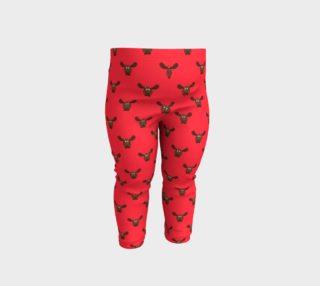 Moose Pattern-Raspberry Baby Leggings preview