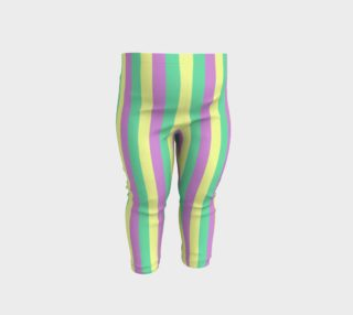Mardi Gras Leggings - Stripes (Baby-6 months) preview