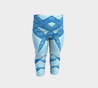 EverLuna Blue Bambu Baby leggings preview