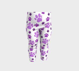 Aperçu de Purple and Lavender Pawprints