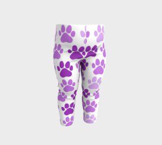 Aperçu de Lavender and Purple Pawprints