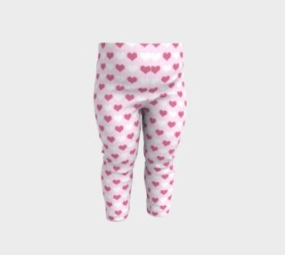 Aperçu de Pink Hearts Baby Leggings