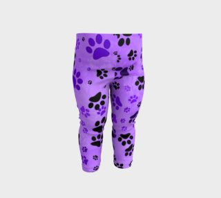 Aperçu de Purple Paw Print Baby Leggings