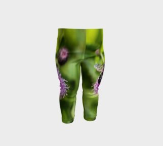 Aperçu de A Bee on a Purple Flower Baby Leggings