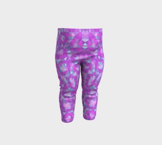Florescent Pink Cheetah Abstract Baby Leggings  preview
