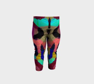 Rainbow Cheetah Print Geometric Baby Leggings  preview