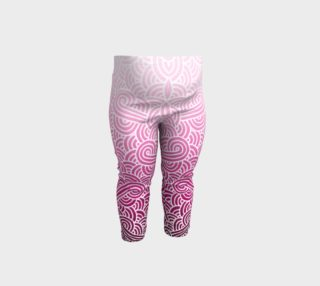 Ombre pink and white swirls doodles Baby Leggings preview