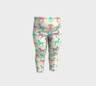 Pretty Prancing Pony Foals Pastel Horses Baby Leggings preview