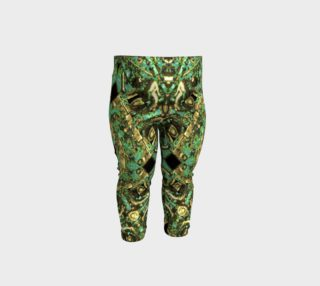 Luxury Abstract Golden Grunge Baby Leggings Print preview