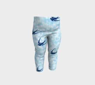 blue bird baby leggings preview