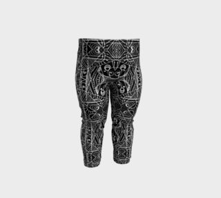 Black and White Tribal Geometric Pattern Print Baby Leggings preview