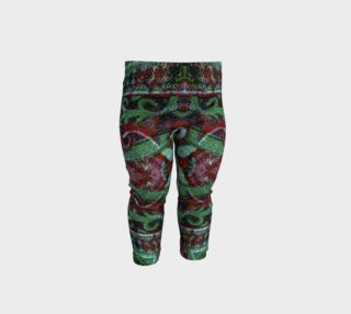 Tribal Ornament Pattern in Red and Green Colors Baby Leggings preview