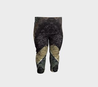 Geometric Abstract Grunge Prints in Cold Tones Baby Leggings preview