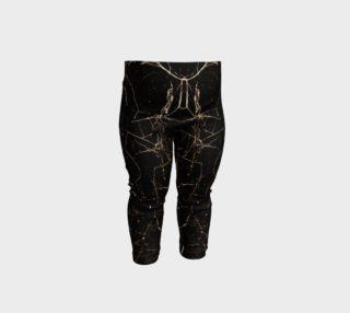 Spider Web Print Grunge Dark Texture Baby Leggings preview