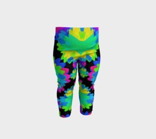 Multicolored Floral Print  Modern Pattern Baby Leggings preview